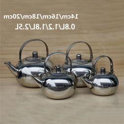 0.8/1.2/1.8/2.5L Teapot Coffee Pot with Tea Leaf Infuser Fil