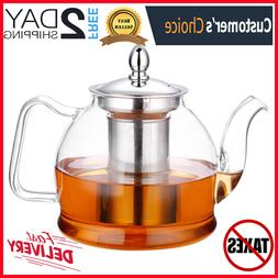1000ml Glass Teapot with Removable Infuser, Stove Top Safe T