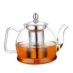 1000ml Glass Teapot with Removable Infuser, Stovetop Safe Te