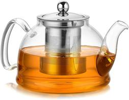 Artcome 1050 ml Glass Teapot Stovetop Safe Tea Pot Blooming