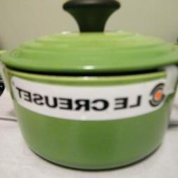 #14 1 Quart green LE CREUSET Signature Round Dutch Oven new