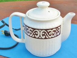 1960s Valiant 496J Hot Pot Electric Stoneware Teapot Japan M