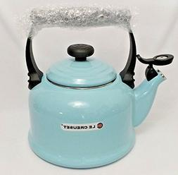 NEW Le Creuset 2.2 QT Whistling Tea Kettle Vitreous Enamel I