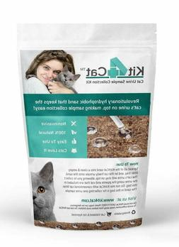 Kit4Cat 2lb Hydrophobic Litter Sand Cat Urine Sample Collect