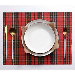 2pcs Linen Dining Table Placemat Square Kitchen Table Mat Te