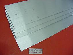 """4 Pieces 1/8"""" X 3"""" ALUMINUM 6061 FLAT BAR 14"""" long T6511 New"""