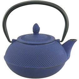 Creative Home 73481 30 oz Kyusu Cast Iron Tea Pot - Blue