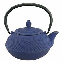 Creative Home 73481 Kyusu Cast Iron Tea Pot, 30 oz., Blue