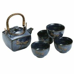 Happy Sales HSTS-DFS03,  Japanese Blue Dragonfly Tea Pot and