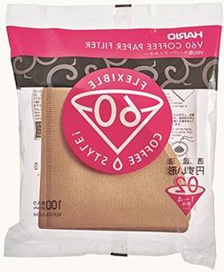 Hario V60 Paper Coffee Filters, 02, Natural-Tabbed - V60 Fil