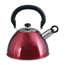 Mr. Coffee 72750.03 Morbern 1.8 Quart Stainless Steel Whistl