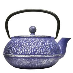 Primula Cast Iron Teapot | Blue Floral Design w/Stainless St