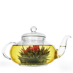 Primula Daisy Borosilicate 40oz Glass Teapot with Glass Infu