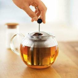 Bodum Assam 17-Ounce Glass Tea Press with Stainless-Steel Fi