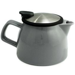 FORLIFE Bell Ceramic Teapot with Basket Infuser 16 Oz.