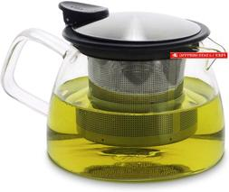 Forlife Bell Glass Teapot With Basket Infuser, 14-Ounce/430M
