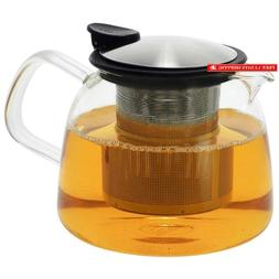 Forlife Bell Glass Teapot With Basket Infuser, 24-Ounce/730M