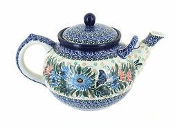 Blue Rose Polish Pottery Kristina Large Teapot
