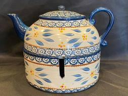 Temptations by Tara - Old World Blue Teapot & Warmer
