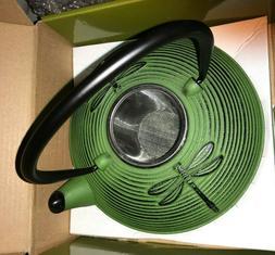 PRIMULA CAST IRON EN FONTE TEA POT 26 OZ GREEN DRAGONFLY LOO