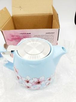Alfred Ceramic and Stainless Steel Teapot 20 oz FabFitFun NI