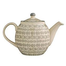 Bloomingville Ceramic Karine Teapot, Multicolor