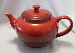 Le Creuset Cerise red small teapot 2 cup stoneware new