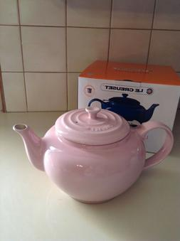 LE CREUSET CHIFFON PINK LARGE TEA POT WITH INFUSER  NEW/BOX