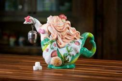 Blue Sky Clayworks E1 Kitchen Mermaid 12.5in Ceramic Teapot