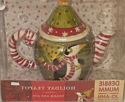 Debbie Mumm Holiday Teapot For Jo-Ann Fabrics Color And Joy