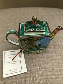 Kelvin Chen Enamel Copper Miniature Teapot Box No 817 2001 F