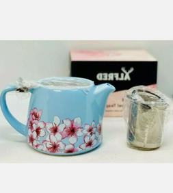 FabFitFun ALFRED Blue Ceramic and Stainless Steel Teapot 20