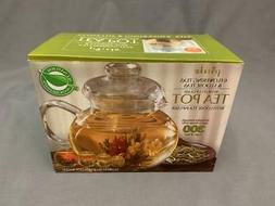 Primula Flowering 40 oz Glass Teapot with Loose Tea Infuser