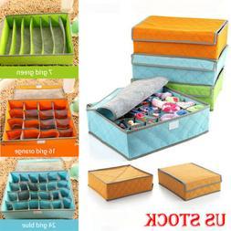 Foldable Closet Drawer Organizer Divider Storage Box For Und