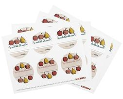 Fruit Canning Label, Set of 24
