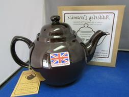 GENUINE BROWN BETTY, Red Clay, Rockingham Glaze,  4 Cup Tea
