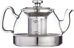 Glass Tea Kettle with Removable Infuser,Stove Top Safe, 900