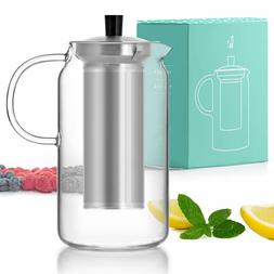 Glass Teapot Kettle with Infuser Set - Stove Top Warmer Tea
