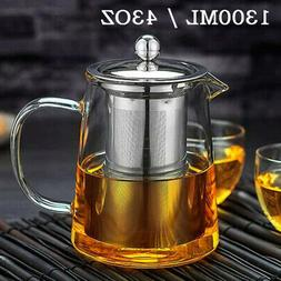 Glass Teapot Kettle with Infuser Tea Pot 43oz/1300ML Stoveto