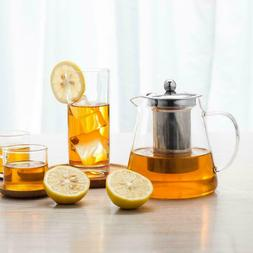 Glass Teapot Kettle with Infuser Tea Pot 32oz/950ML Stovetop
