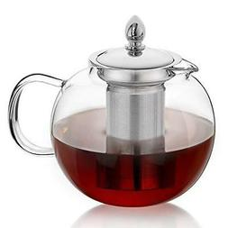 Glass Teapot, Hiware TeaPot with Removable Infuser 45oz Bloo