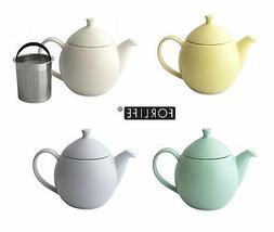 For Life Glazed Ceramic Dew Teapot Tea Pot Basket Infuser 94