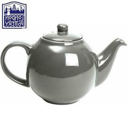 London Pottery Globe 2 Cup Silver Teapot with Filter