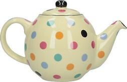 London Pottery Globe 2 Cup Traditional Teapot Gloss White &