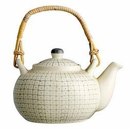 Bloomingville Grey Ceramic Carla Teapot, Multicolor