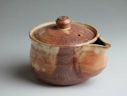 Hagi yaki ware Japanese tea pot Ayatuti hohin kyusu pottery