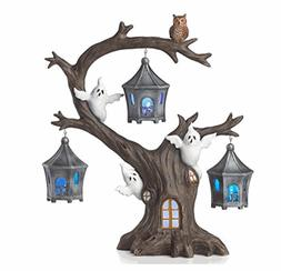 Lenox Halloween A Ghostly Ghoulish Halloween Lighted Tree wi