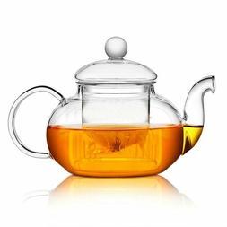 Heat Resistant Glass Teapot Flower Tea Pot with Infuser Tea