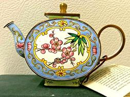 Field of Poppies Van Gogh KELVIN CHEN Enamel Copper Hand paint Mini Teapot