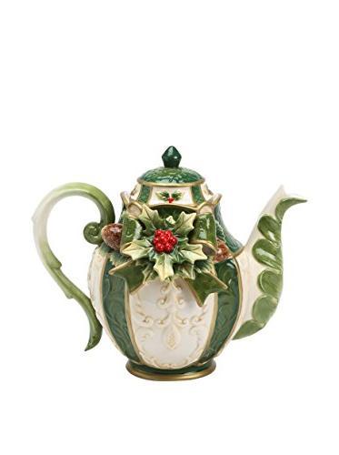 10309 emerald holiday teapot